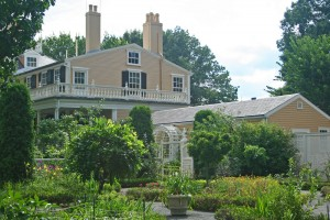 Longfellow House, Craigie addition and kitchen garden